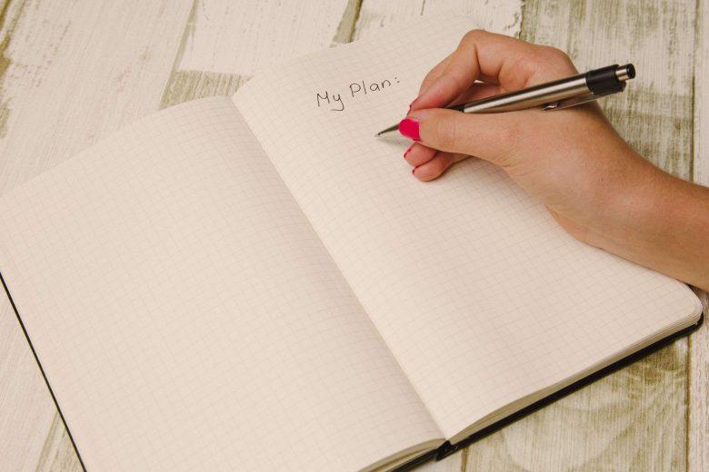 Notizbuch mit Schriftzug 'Plan'