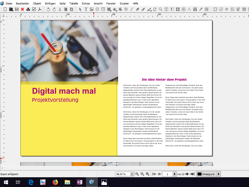 "Scribus: Bilder, Texte <span class=""amp"">&</span> Formen"