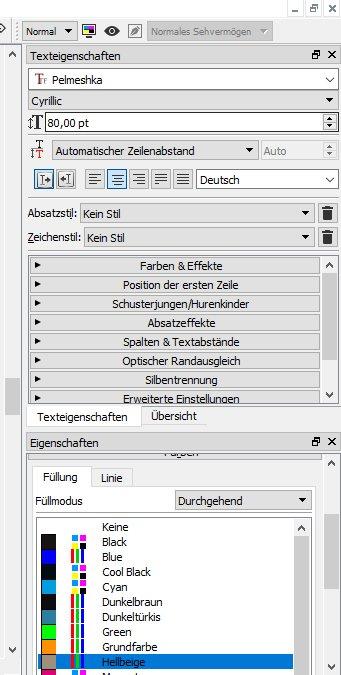 """Gehe in der Palette """"Texteigenschaften"""" auf """"Spalten & Textabstände""""."""