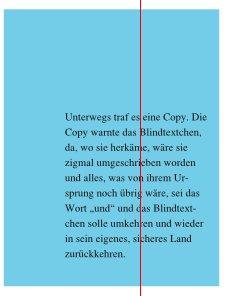 In diesem Screenshot ist zu sehen, dass nun zwischen Text und Rechteckrahmen ein Abstand vorhanden ist.