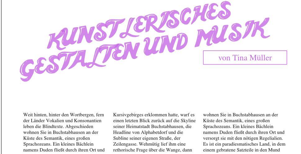 Autorenzeile hier direkt unter der Überschrift, von einem Rechteck mit lila Kontur umhüllt