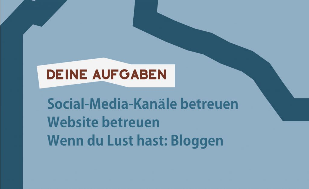 Aufgaben im Rollenprofil: z. b. Social-Media-Kanäle und die Website betreuen