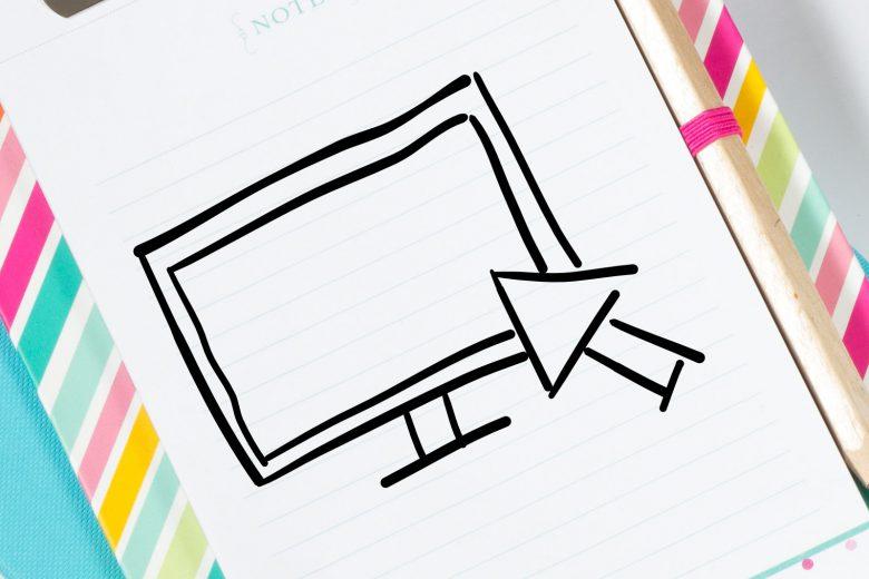 Notizbuch mit Icon Computer