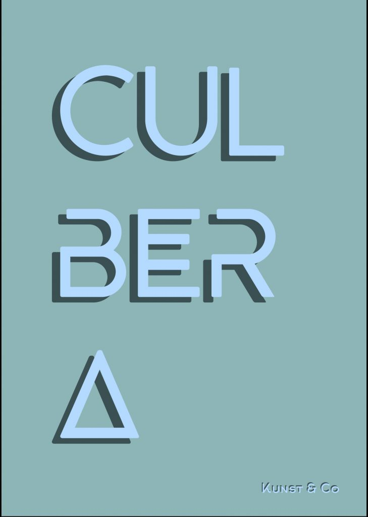 """Cover mit großer, künstlerischer Schrift, die sich über die ganze Seite streckt: """"Culbera"""""""