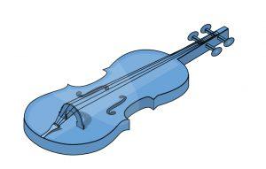 Isometrisch dargestelltes Cello