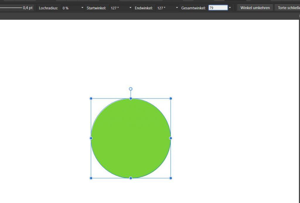 Nun ist ein kompletter Kreis zu sehen