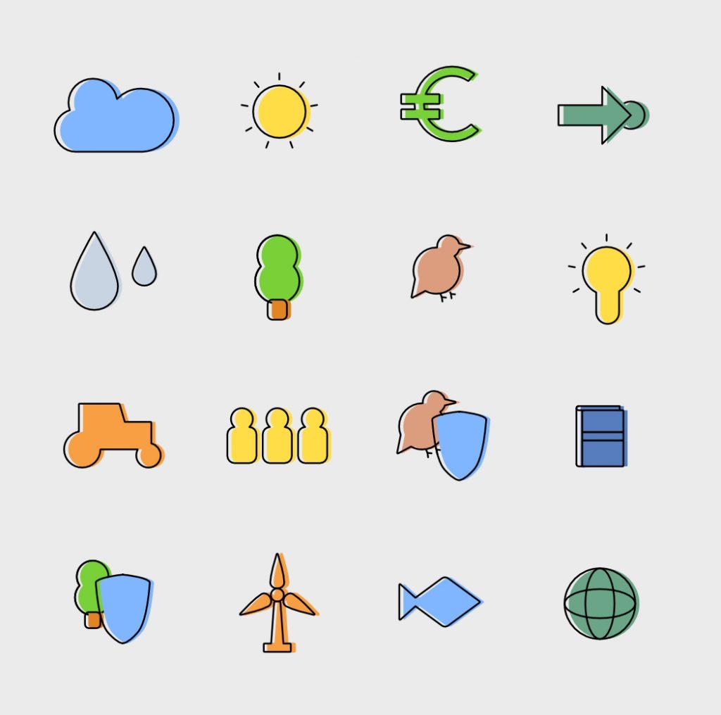Naturschutz Icons