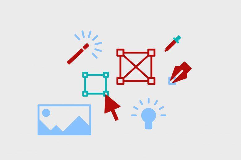 Icons zum Thema Grafikdesign